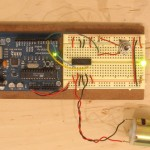 Program your arduino with the motor control code, fire it up and change the direction of the motor with the switch. Congratulations.